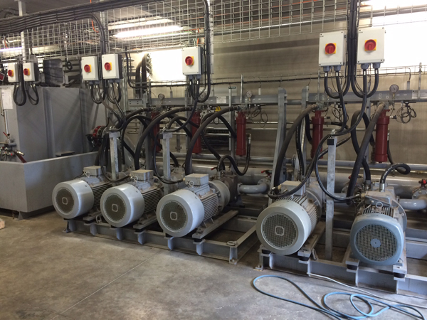 Débit pression des pompes hydrauliques