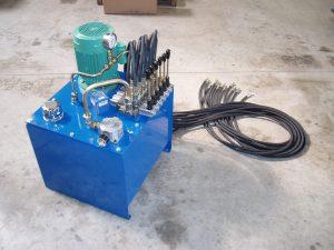 Centrale hydraulique et tuyaux