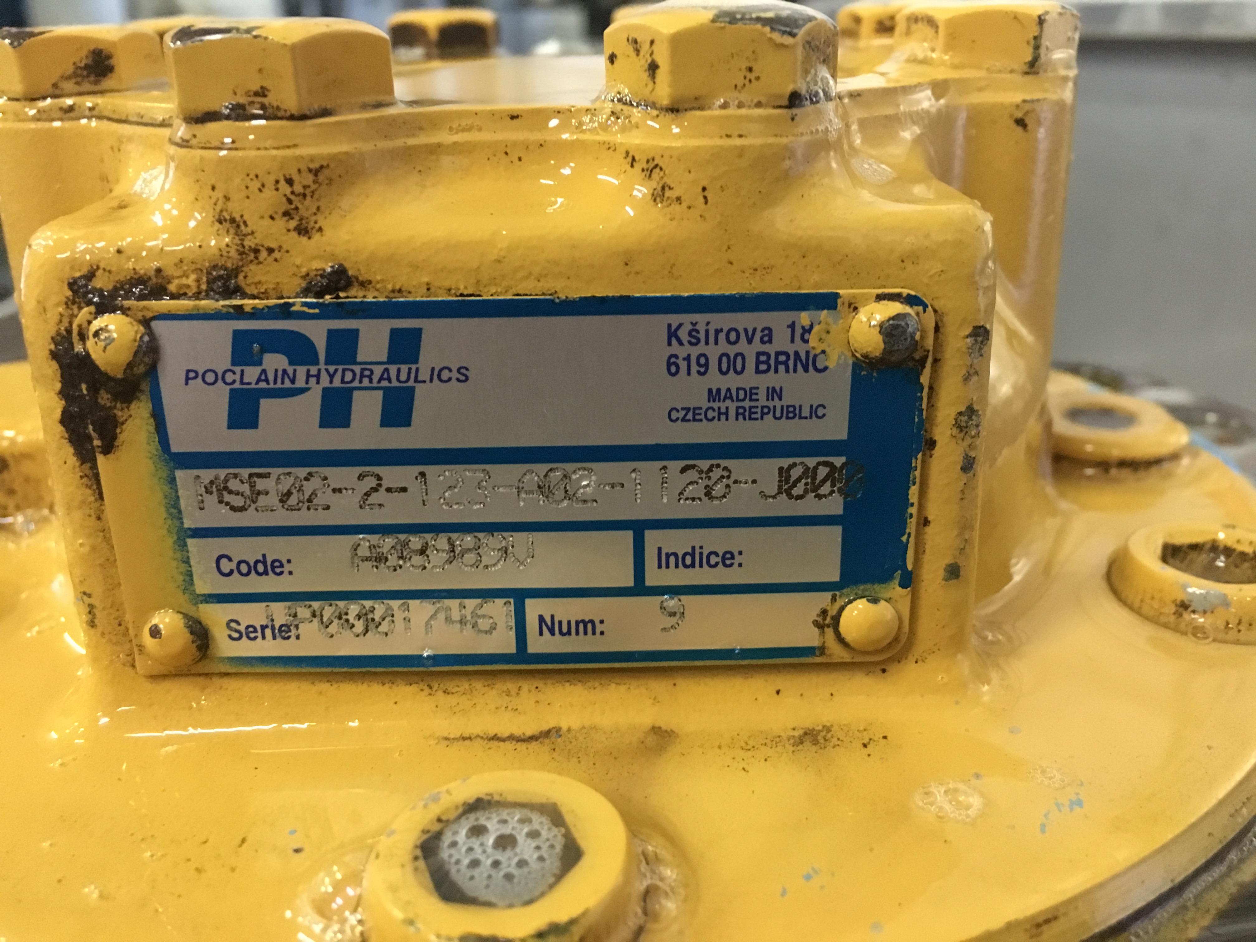 Moteur hydraulique POCLAIN MSE02-2-123-A02-1120-J000
